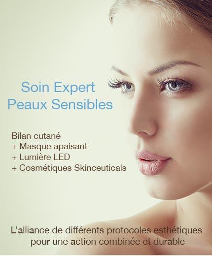 Soin Expert peaux sensibles avec lumière LED