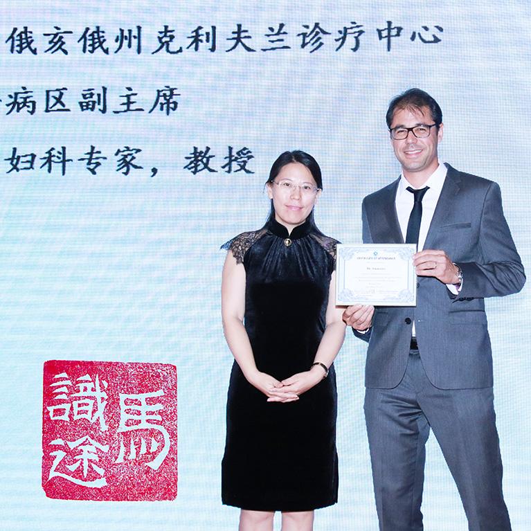 Le docteur SMARRITO en Chine.