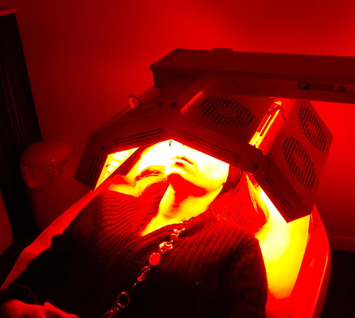 Séance-LED jaune et infrarouge